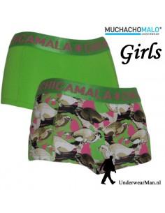 ChicaMala Green Hipster Duopak Meisjes Ondergoed