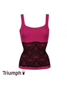 Triumph Shape Sensation Velvet Shirt Fuchsia