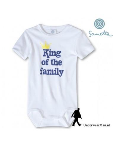 Sanetta King of the Family Baby Romper korte mouw