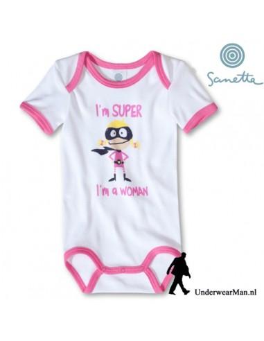 Sanetta SuperWoman Baby Romper korte mouw