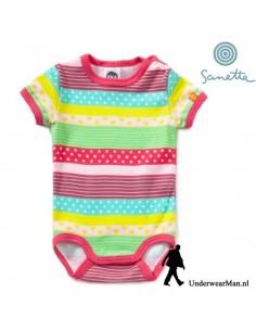 Sanetta Colourful Baby Romper korte mouw