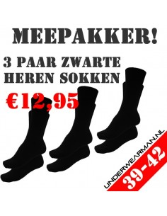 Heren sokken Suaque 3Pack cotton comfort 39-42
