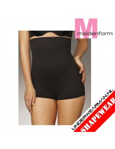 Maidenform Flexees Fat Free Boy Short Black Tummy Toning Hi Waist