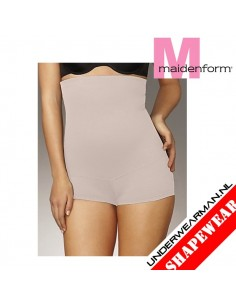 Maidenform Flexees Fat Free Boy Short Latte Tummy Toning Hi Waist