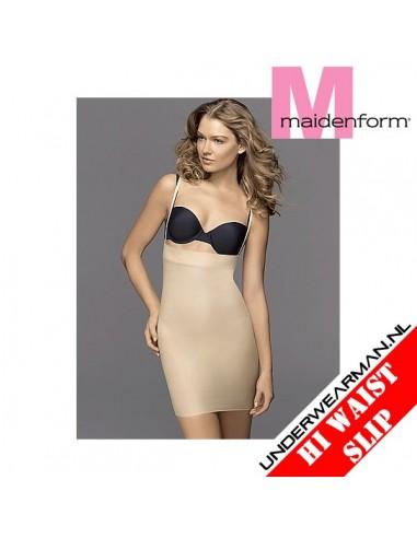 Maidenform Flexees Hi Waist Slip Skirt Skin Tummy Toning Hi Waist