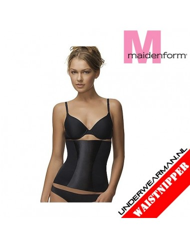 Maidenform Flexees Waistnipper Black Easy Up Tummy Toning