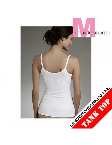 Maidenform Flexees Fat Free Shirt Camisole White Tummy Toning
