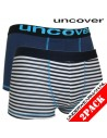 Uncover Blue Stripe Sea Trunk 2pack Schiesser Kinderondergoed