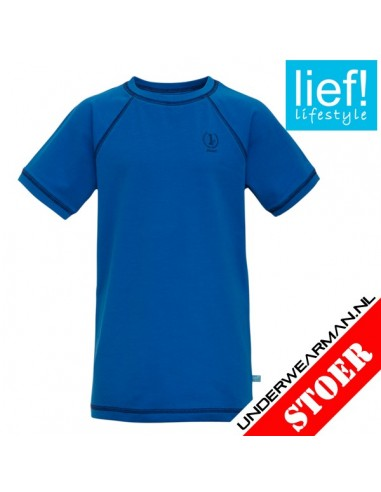 Lief! T-Shirt Kobalt Kinderondergoed