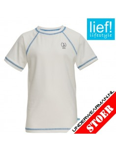Lief! T-Shirt White Kinderondergoed
