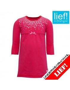 Lief! Nightdress Fuchsia Meisjes ondergoed