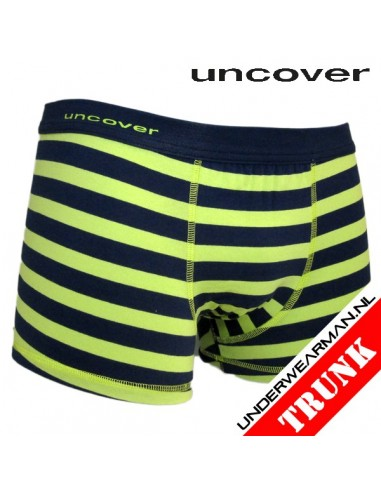 Uncover Trunk Short Green Stripe Schiesser