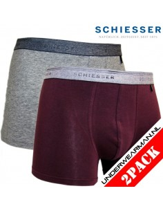 Schiesser Heupshort 2Pack Bordeaux 95/5 Boxerhort