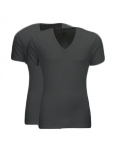 Calvin Klein T-shirt zwart duo pak v-hals