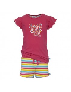 Lief! Shortama Pink Stripe Meisjes Pyjama ondergoed
