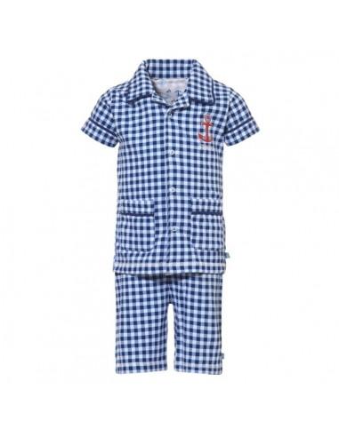 Lief! Shortama Blue Check Jongens ondergoed Pyjama
