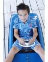 Lief! Shortama Blue Check Jongens ondergoed Pyjama Sfeerbeeld