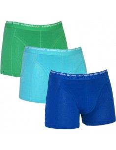 Bjorn Borg Skydiver Blue 3Pack Shorts Kinderondergoed