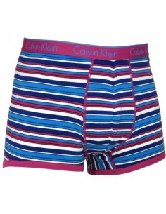 Calvin Klein Ondergoed Trunk Shorty Stripe Pink Blue