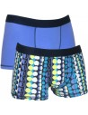 Uncover Trunk Short 2Pack Dots Blue Schiesser
