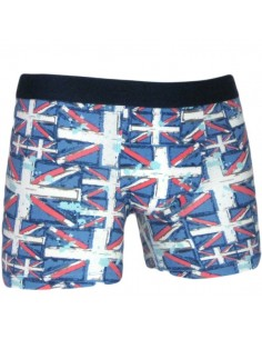 Uncover Cyclist Short Flag Blue Schiesser