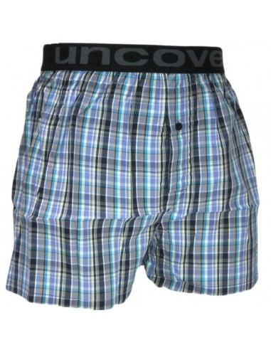 Uncover Woven Boxershort Mix Blue Schiesser