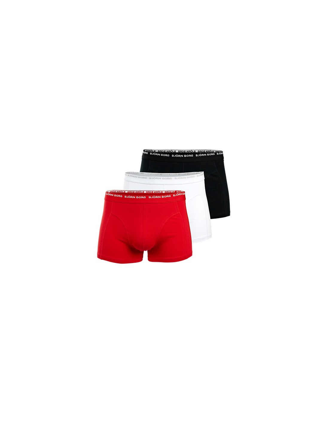 Björn Borg Short Shorts 3Pack 3 To Go Black white red ...