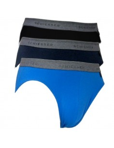 Schiesser Rio Slip 3Pack Blue black 95/5 Boxerhort