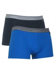 Schiesser Heupshort 2Pack Blue Dark Blue 95/5 Boxerhort