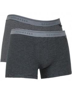 Schiesser Heupshort 2Pack stripe black 95/5 Boxerhort