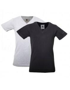MuchachoMalo T-shirt zwart grijs 2Pack Kinder Ondergoed