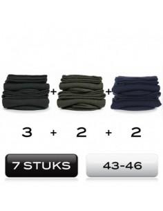 Heren sokken 7 mix Pack cotton comfort 43-46