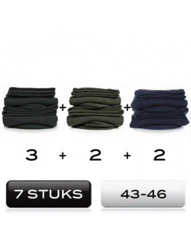 Heren sokken 7 mix Pack cotton comfort 43-46