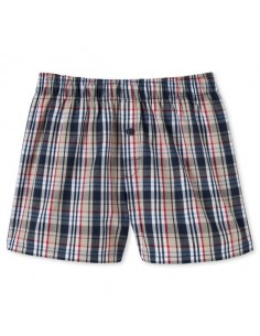 Schiesser woven boxershort kids navy blocks