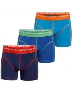 Bjorn Borg 3 To Go Blue 3Pack Shorts Kinderondergoed