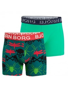 Bjorn Borg Skull Chain Everglade 2Pack Shorts Kinderondergoed