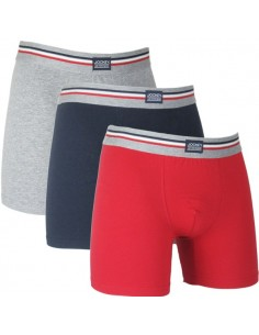 Jockey Boxershorts 3 navy red grey long boxershort