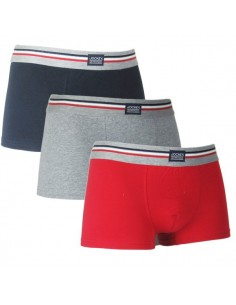 Jockey Boxershorts 3 navy red grey Trunk Boxer
