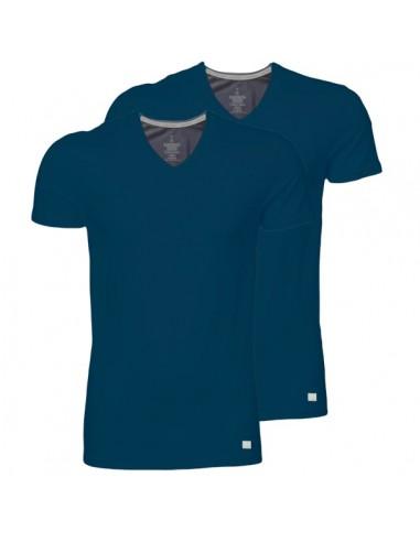 Calvin Klein T-shirt duo pak Navy v-hals