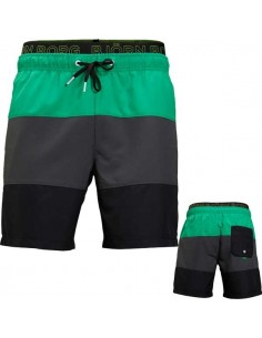 Björn Borg Zwembroek Loose Shorts Colourblocked Basic Woven Bright Green