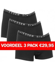 Schiesser Short 3 pack black Superieur Pima Katoen