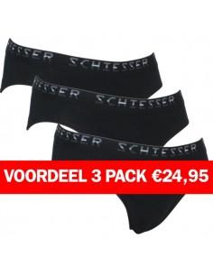 Schiesser Rio Slip3 pack black