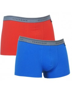 Schiesser Heupshort 2Pack Blue Red 95/5 Boxerhort