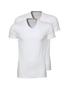 Ten Cate ondergoed Men T-Shirt V-hals wit 2-pack heren