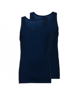 Ten Cate Basic Singlet 2Pack Navy mannen