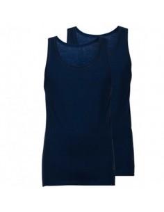 Ten Cate ondergoed Singlet 2-pack navy blauw mannen
