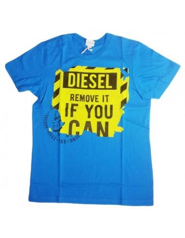 Diesel Kinderondergoed T-Shirt Blauw Taxey