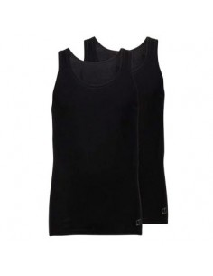 Ten Cate Basic Singlet 2Pack Zwart mannen
