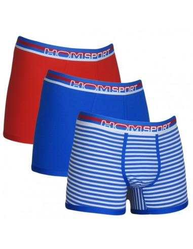 HOM Sport 3Pack Maxi Blue Stripe Red Boxershorts