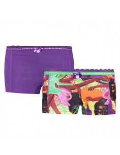 MuchachoMalo Ladies Religion Short 2Pack Dames Ondergoed
